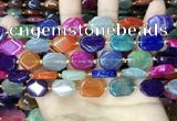 CAA4448 15.5 inches 12*16mm octagonal dragon veins agate beads