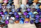CAA4460 15.5 inches 12mm flat round dragon veins agate beads
