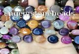 CAA4462 15.5 inches 12*16mm oval dragon veins agate beads