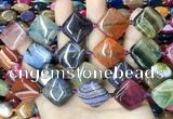 CAA4471 15.5 inches 20*20mm diamond dragon veins agate beads