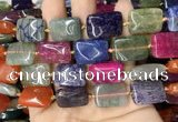 CAA4480 15.5 inches 15*20mm rectangle dragon veins agate beads
