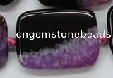 CAA450 15.5 inches 30*40mm rectangle agate druzy geode  beads