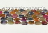 CAA4502 15.5 inches 10*14mm rectangle dragon veins agate beads