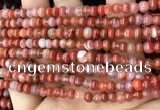 CAA4560 15.5 inches 4*5mm rondelle south red agate beads