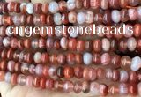 CAA4561 15.5 inches 4*6mm - 5*7mm rondelle south red agate beads