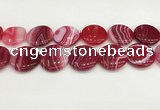 CAA4639 15.5 inches 30mm flat round banded agate beads wholesale