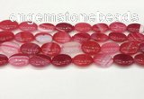 CAA4664 15.5 inches 13*18mm oval banded agate beads wholesale