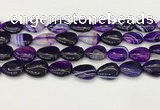 CAA4703 15.5 inches 13*18mm flat teardrop banded agate beads wholesale