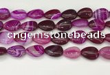 CAA4712 15.5 inches 15*20mm flat teardrop banded agate beads wholesale