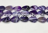 CAA4719 15.5 inches 18*25mm flat teardrop banded agate beads wholesale