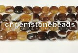 CAA4749 15.5 inches 16*16mm square banded agate beads wholesale