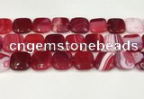 CAA4760 15.5 inches 18*18mm square banded agate beads wholesale
