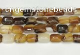 CAA4805 15.5 inches 13*18mm rectangle banded agate beads wholesale