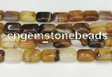 CAA4813 15.5 inches 15*20mm rectangle banded agate beads wholesale