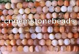 CAA4855 15.5 inches 6mm faceted round botswana agate beads