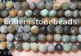CAA4862 15.5 inches 10mm faceted round ocean agate beads
