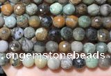 CAA4863 15.5 inches 12mm faceted round ocean agate beads