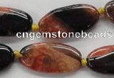 CAA488 15.5 inches 15*30mm oval agate druzy geode beads