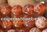 CAA5070 15.5 inches 4mm round red dragon veins agate beads
