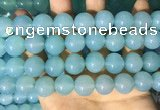 CAA5095 15.5 inches 14mm round sea blue agate beads wholesale