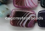 CAA546 15.5 inches 22*30mm rectangle dyed madagascar agate beads
