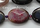 CAA579 15.5 inches 20*30mm faceted oval dragon veins agate beads