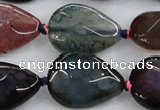 CAA586 15.5 inches 18*25mm faceted teardrop dragon veins agate beads