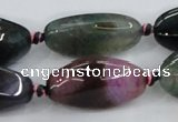CAA626 15.5 inches 15*30mm nuggets dragon veins agate beads