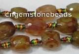 CAA652 15.5 inches 13*16mm faceted drum agate gemstone beads