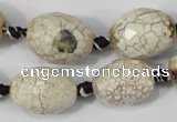 CAA653 15.5 inches 15*20mm faceted egg-shaped agate beads