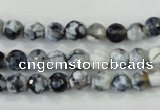 CAA709 15.5 inches 6mm faceted round fire crackle agate beads