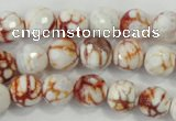 CAA714 15.5 inches 10mm faceted round fire crackle agate beads