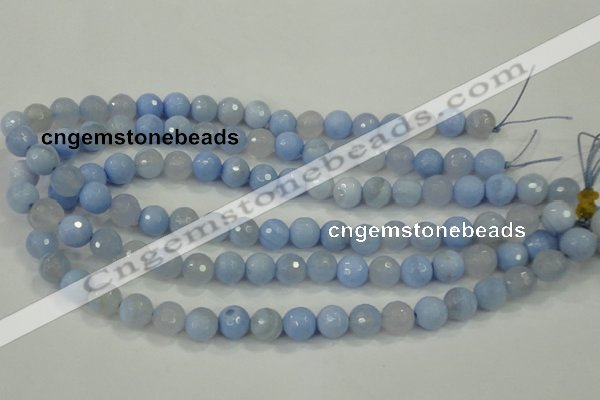 CAA738 15.5 inches 12mm faceted round blue lace agate beads wholesale
