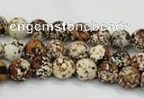 CAA751 15.5 inches 10mm round wooden agate beads wholesale