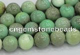 CAB01 15.5 inches 10mm round green grass agate gemstone beads