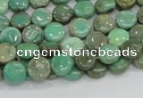 CAB25 15.5 inches 8mm coin green grass agate gemstone beads