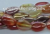 CAB533 15.5 inches 10*15mm flat teardrop AB-color red agate beads