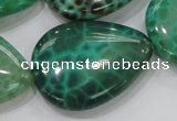 CAB56 15.5 inches 30*40mm flat teardrop peafowl agate gemstone beads
