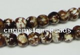 CAB609 15.5 inches 8mm round leopard skin agate beads wholesale