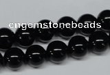 CAB725 15.5 inches 10mm round black agate gemstone beads wholesale
