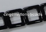 CAB862 15.5 inches 20*20mm square black agate gemstone beads wholesale