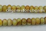 CAB933 15.5 inches 5*8mm rondelle yellow crazy lace agate beads