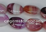 CAG1201 15.5 inches 15*20mm oval line agate gemstone beads