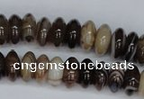 CAG1330 15.5 inches 6*12mm rondelle line agate gemstone beads