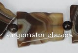 CAG1356 15.5 inches 28*35mm trapezoid line agate gemstone beads
