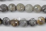 CAG1433 15.5 inches 10mm faceted round bamboo leaf agate beads