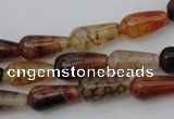 CAG1446 15.5 inches 8*16mm teardrop dragon veins agate beads