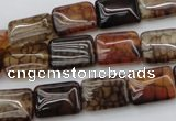 CAG1479 15.5 inches 10*14mm rectangle dragon veins agate beads