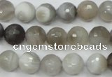 CAG1803 15.5 inches 10mm faceted round grey botswana agate beads
