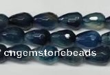 CAG2304 15.5 inches 10*14mm faceted teardrop agate gemstone beads